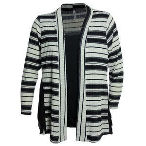 Multi Color Striped Long Sleeve 2fer Shirt Twofer
